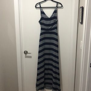 Navy and white maxi dress. Only worn twice!